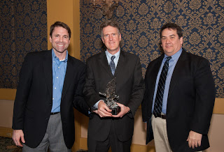 OCA presented the 2013 Crystal Eagle Award to PLF's Director of Litigation, James S. Burling. (Pictured L to R: Andrew Brigham, Jim Burling and Robert Thomas.)