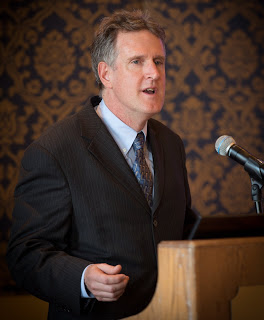 PLF's Jim Burling speaks to OCA Members on January 26, 2013 after receiving the Crystal Eagle Award.