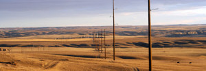 The Montana Alberta Tie-Line is a 300-megawatt (MW) 230-kilovolt (KV) electrical transmission line allowing movement of power between Montana and Alberta, Canada. Photo from www.enbridge.com.