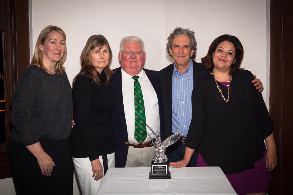 Schwabe Williamson & Wyatt attorneys with Crystal Eagle Award.